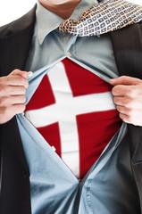 Denmark flag on shirt