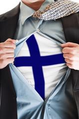 Finland flag on shirt