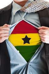 Ghana flag on shirt