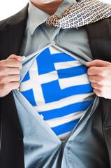 Greece flag on shirt