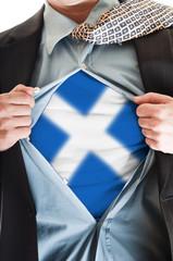 Scotland flag on shirt