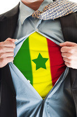 Senegal flag on shirt