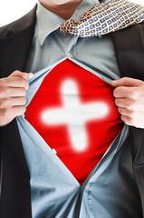 Switzerland flag on shirt