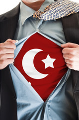 Turkey flag on shirt