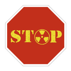 Nuclear energy stop sign