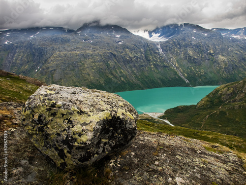 Gjende lake from Besseggen ridge, Norway