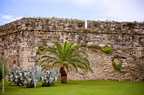 Ancient tropical fort in Bermuda