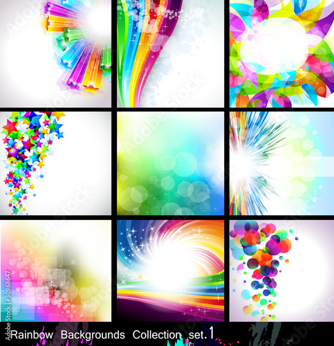 Rainbow Backgrounds Collection  - Set 1