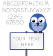 Sign and alphabet copy space for own text