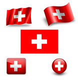 switzerland flag icon set