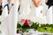 Leinwanddruck Bild - Hochzeitstisch auf einer Hochzeitsfeier