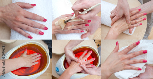 woman hand beauty treatment