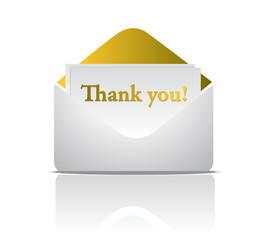 thank you golden envelope