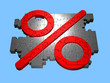 Prozentzeichen - Puzzle - isoliert