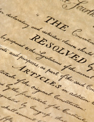 United States Declaration of Independence - closeup