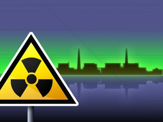 japan fukushima radioactivity sign