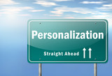 """Highway Signpost """"Personalization"""""""