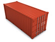 3d Red shipping container