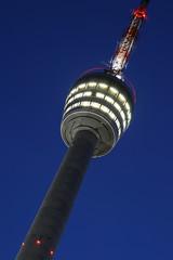 Fernsehturm Stuttgart bei Nacht