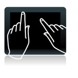 touch tablet  with hands