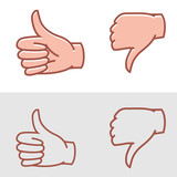 thumbs up or thumbs down