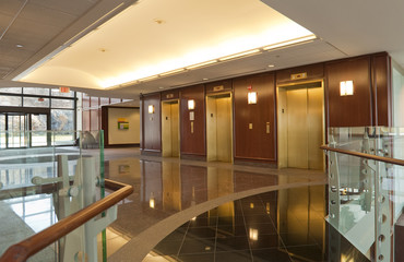 Elevators in office building