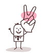 businessman with victory sign