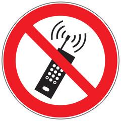 Zeichen Mobilfunk verboten