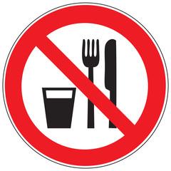 Zeichen Essen und Trinken verboten