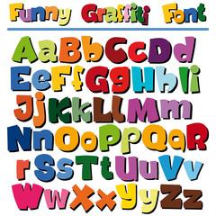 funny cartoon styled font