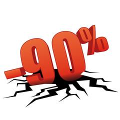 90 % de réduction