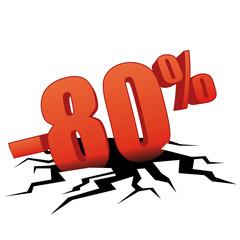 80 % de réduction