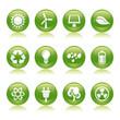 eco energy glossy icons