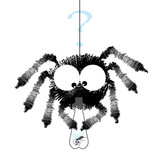 Black spider with fly in the bottle - funny cartoon image