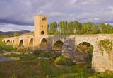 Frias medieval bridge, is of Roman origin, Spain poster