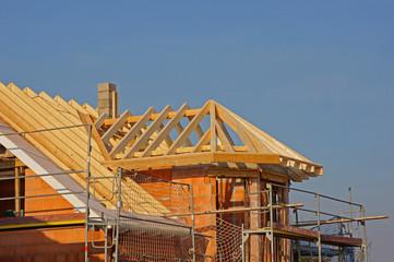 Dachkonstruktion mit Erker