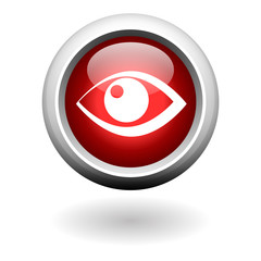 Eye Symbol on Red Round Button