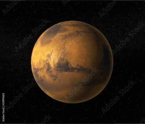 Fototapeta A view of planet Mars