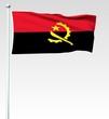 Постер, плакат: 015 Flagge von Angola Render