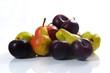 gemischtes Obst auf weißem Hintergrund / mixed fruit on white ba