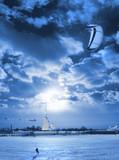 Fototapete Winter - Schnee - Beim Sport