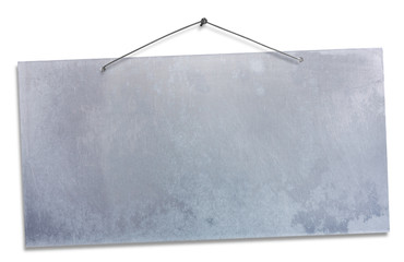 hanging aluminum sheet - clipping path