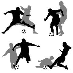 Calcio, contrasti giocatori