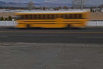 school bus blur