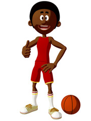 Toon Basketball Player
