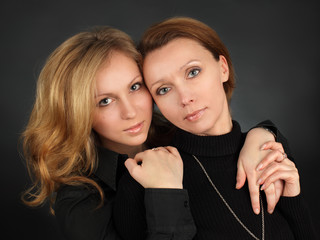 Mother with the daughter
