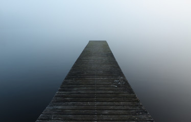 Pier in the fog
