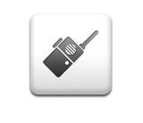 Boton cuadrado blanco walkie talkie poster
