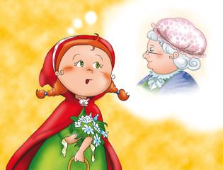 Cappuccetto Rosso preoccupata per la nonna