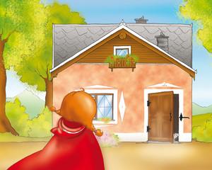 Cappuccetto Rosso arriva a casa della nonna